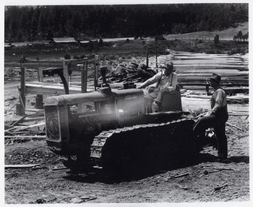 Lew & Buster on dozer