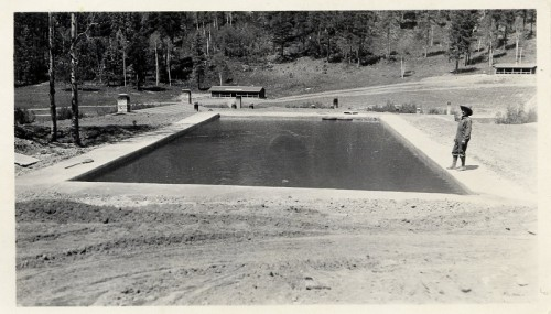 Swimming pool at Rancho Rea. From the Abousleman collection. Used with permission.