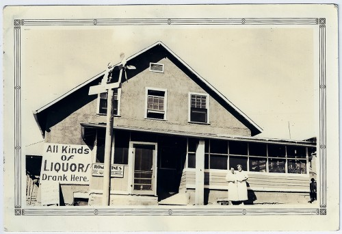 J.D. Johnston's Emporium, Jemez Springs, New Mexico. July 28th, 1938.