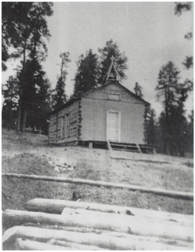 Small Log Chapel – Bond Family Ranch Frank Bond Acquired Baca Location #1, 1926