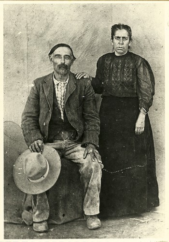 Florentino Lucero and wife. Photo Courtesy of Christine Gonzales. Used with permission from files of Sandoval County Historical Society.