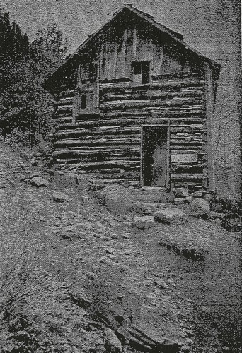 Log structure built in the late 1800s was used to store mining supplies