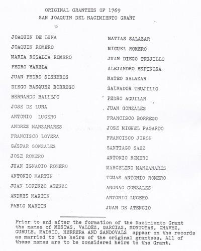 original grantees Cuba